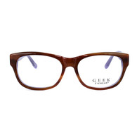 Geek 127 Color: Honey with Lilac Temples