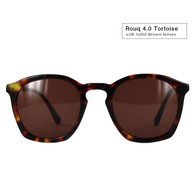 Rouq 4.0 Tortoise with Solid Brown Lenses