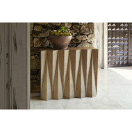 Ambella Accordion Console Table - White Oak