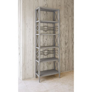 Ambella Spindle Etagere - Weathered Grey