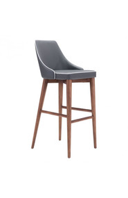 Zuo Modern Moor Bar Chair Dark Gray