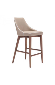 Zuo Modern Moor Counter Chair Chair Beige