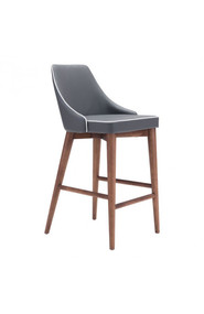 Zuo Modern Moor Counter Chair Dark Gray