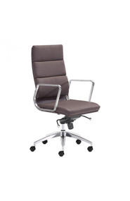 Zuo Modern Engineer High Back Office Chair Espresso