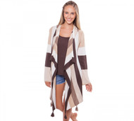 Alashan Cashmere Oasis Cardigan With Tassels - White, Mongolian Cream, Natural, Dune, & Boar