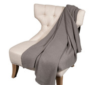 Alashan Cashmere 100% Cashmere Basketweave Knit Throw