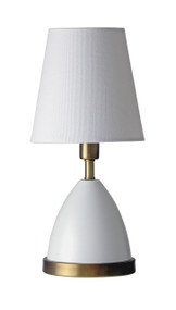 "House of Troy Geo 12"" Parabola Mini Accent Lamp  - White"