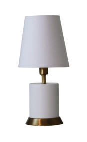 "House of Troy Geo 12"" Cylinder Mini Accent Lamp  - White"