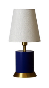 "House of Troy Geo 12"" Cylinder Mini Accent Lamp  - Navy Blue"