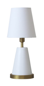 "House of Troy Geo 13"" Cone Mini Accent Lamp  - White"