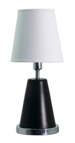 "House of Troy Geo 13"" Cone Mini Accent Lamp  - Black Matte"