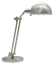 House of Troy Addison Adjustable Pharmacy Desk Lamp - Satin Nickel