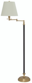House of Troy Bennington Swing Arm Floor Lamp - Black