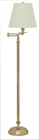 House of Troy Bennington Swing Arm Floor Lamp - Weathered Brass