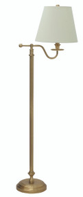 House of Troy Bennington Floor Lamp - Weathered Brass