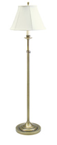 House of Troy Club Adjustable Floor Lamp - Antique Brass