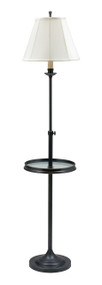 House of Troy Club Adjustable Floor Lamp with Table - Oil Rubbed Bronze