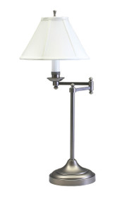 House of Troy Club Swing Arm Table Lamp - Antique Silver