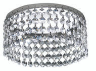 "Framburg Lighting 3.25"" Polished Silver Angelique Can Trim"