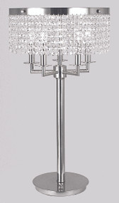 "Framburg Lighting 28"" 5-Light Polished Silver Princessa Portable Table Lamp"