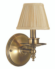 "Framburg Lighting 10.5"" 1-Light Antique Brass Sheraton Sconce"