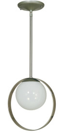 "Framburg Lighting 10"" 1-Light Satin Brass/Polished Brass Orabelle Pendant"