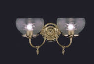"Framburg Lighting 10"" 2-Light Polished Brass Chancery Sconce"