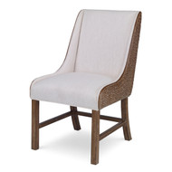 Ambella Voranado Woven Side Chair - Belfast Ivory