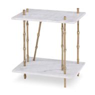 Ambella Bamboo End Table - Marble Top