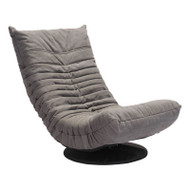 Zuo Modern Down Low Swivel Chair Gray