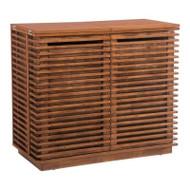 Zuo Modern Linea Bar Cabinet Walnut