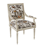 Ambella Home BISQUE ONLY - Louis Arm Chair Plain Back
