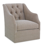 Ambella Home Claudette Swivel Chair - Tufted Back
