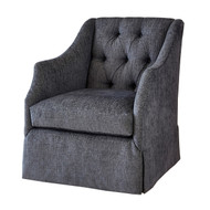 Ambella Home Claudette Chair - Skirted w/ Tufted Back