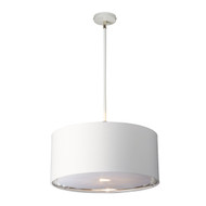 Elstead Lighting Balance White/Polished Nickel Pendant
