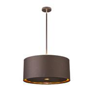 Elstead Lighting Balance Brown/Polished Brass Pendant