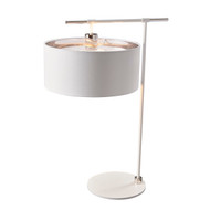 Elstead Lighting Balance White/Polished Nickel Table Lamp