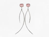 Dorian Webb Blush Quartz Curve Earrings