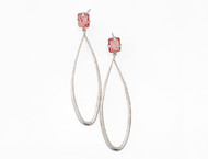 Dorian Webb Blush Quartz Long Teardrop Earrings