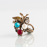 Dorian Webb Bird and Pomegranate Ring