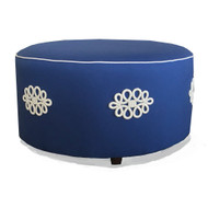 Dana Gibson Shang Knot Ottoman in Navy