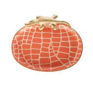Dana Gibson Croc Tray, Orange