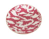 Dana Gibson Pink Dragon Bowl, Medium