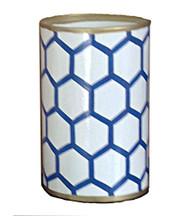 Dana Gibson Blue Mesh Pen Cup