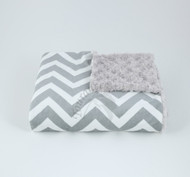 Tourance Chevron Baby Blanket In Grey