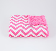 Tourance Chevron Baby Blanket In Hot Pink