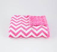 Tourance Chevron Baby Blanket In Hot Pink