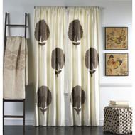 Cloud9 Design Carnation Curtain Panel AZURE02PN-IV