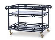 Century Furniture Thomas O' Brien Augustine Metal Bar Cart W/ Tempered Glass AE-D41-89
