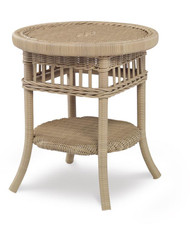 Century Furniture Thomas O' Brien Mainland Wicker Side Table W/ Tempered Glass AE-D40-83-NT